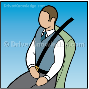 Seat belt reduces the chance of being thrown from your vehicle