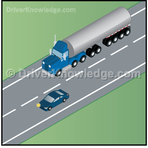 pass a large truck