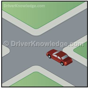 entering a blind intersection