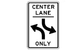 lane for two-way left turns
