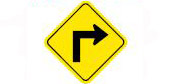 road ahead turns sharply to the right