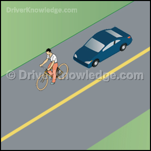 approaching a bicyclist
