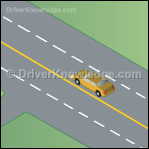 cross solid yellow lines