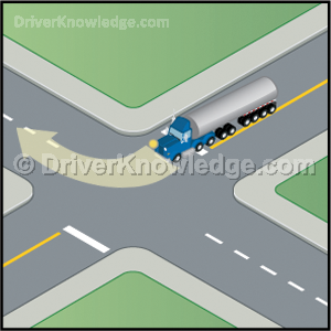 Large trucks turning right