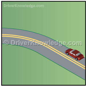 driving into a curve