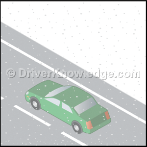 low visibility conditions while driving