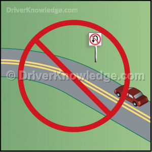 U-turn is not permitted