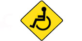 crossing the roadway in a wheelchair