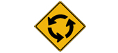 Circular intersection ahead